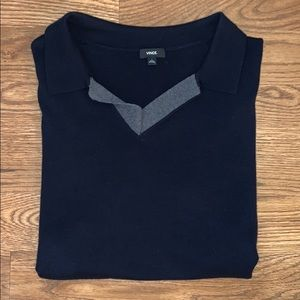 Vince Navy Sweater Polo